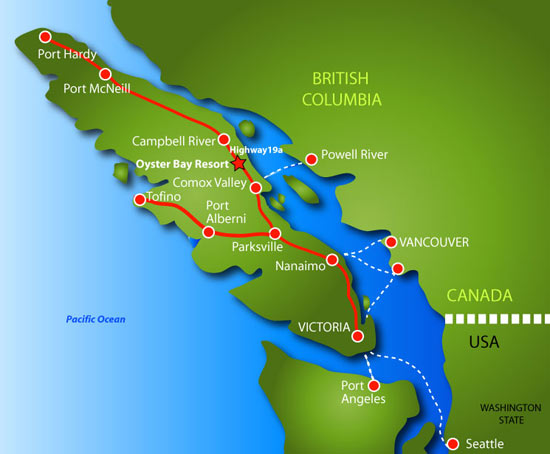 Map Vancouver Island West Coast